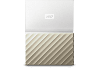WESTERN DIGITAL Disque dur portable My Passport Ultra 2 TB Blanc/Doré (WDBTLG0020BGD-WESN)
