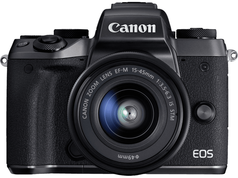 CANON EOS M5 Kit Systemkamera 24.2 Megapixel mit Objektiv 15-45 mm f/6.3, 8 cm Display   Touchscreen, WLAN