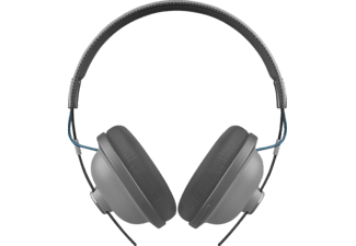 PANASONIC RP-HTX80BE, Over-ear Kopfhörer, Headsetfunktion, Bluetooth, Grau/Schwarz