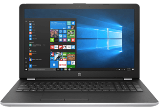 HP 15-bs139ng, Notebook mit 15.6 Zoll Display, Core™ i7 Prozessor, 8 GB RAM, 1 TB HDD, 128 GB SSD, Radeon R530, Silber