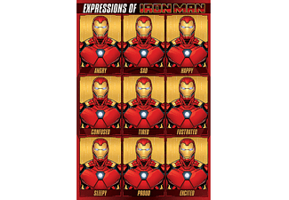 Iron Man Poster Expressions of Iron Man