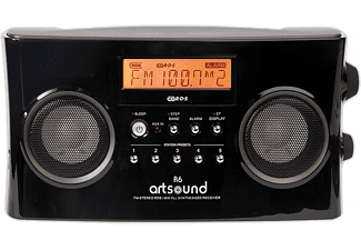 ARTSOUND Radio portable Noir (R6)