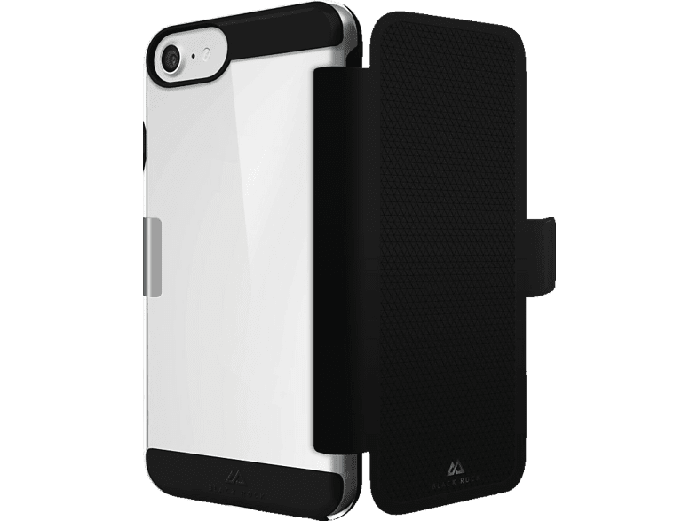 BLACK ROCK Air , Bookcover, Apple, iPhone 6, iPhone 6s, iPhone 7, Thermoplastisches Polyurethan, Schwarz