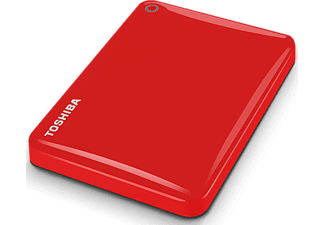 TOSHIBA Disque dur externe Canvio Connect II 1 TB Rouge (HDTC810ER3AA)