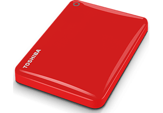 TOSHIBA Disque dur externe Canvio Connect II 2 TB Rouge (HDTC820ER3CA)