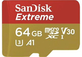 SANDISK 64GB Micro SD Extreme SDSDQXAF-064G-G46A 64GB 100Mb/S 60Mb/S
