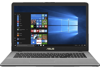 ASUS N705UD-GC021T, Gaming Notebook mit 17.3 Zoll Display, Core™ i7 Prozessor, 8 GB RAM, 1 TB HDD, 256 GB SSD, GeForce GTX 1050, Dark Grey
