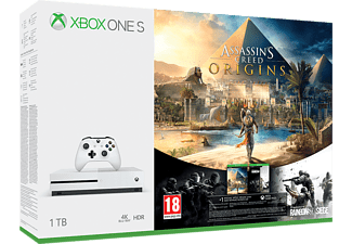 Xbox One S 1TB + Assassin's Creed Origins + Rainbow Six Siege