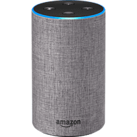 AMAZON Echo (2. Generation) Smart Speaker, Hellgrau
