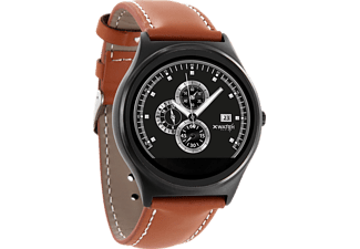 XLYNE PRO QIN XW PRIME II (54015), Smart Watch, Echtleder, 210 mm x 22 mm, Gehäuse: Black Chrome / Armband: Light Cognac Brown