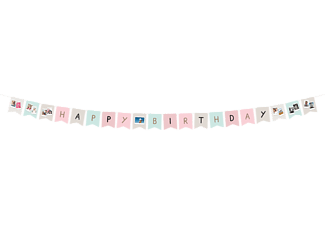"FUJIFILM Instax festoon ""Happy Birthday"" Girlande, Mehrfarbig"