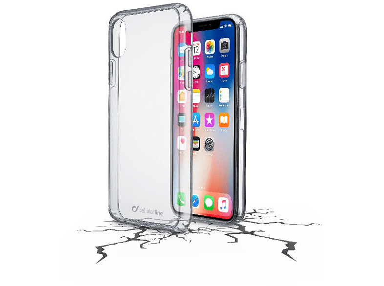 CELLULAR LINE  CLEAR DUO Bookcover Apple iPhone X Kunststoff Transparent | 08018080302176