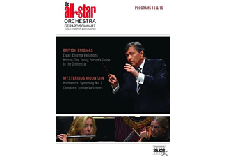 Gerard Schwarz, The All-star Orchestra - Programs 15&16: British Enigmas/Mysterious Mountai - (DVD)