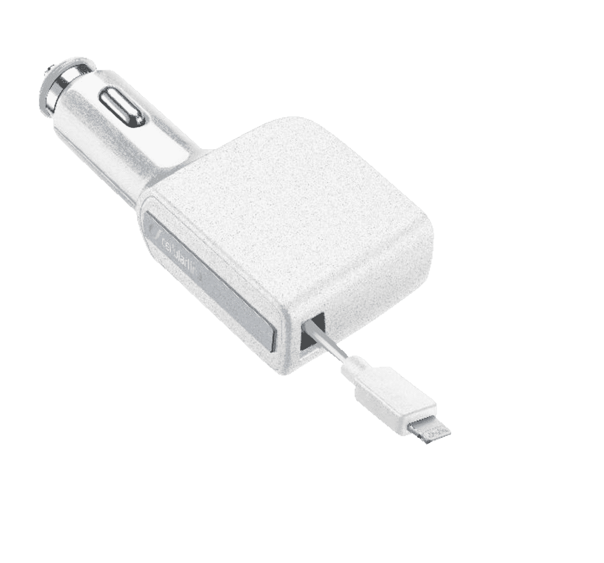 CELLULAR LINE  Roller Car Charger Ultra Lightning Kfz Ladegerät, Apple, iPhone mit Lightning Anschluss, z.B. iPhone 5, 5s, SE, 6, 6 Plus, 6s, 6s Plus, 7, 7 Plus, Weiß | 08018080281150