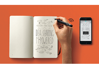 Tableta gráfica - Moleskine SMART WRITING SET, escritura digitalizada, Bluetooth