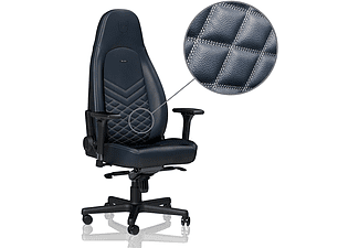 NOBLECHAIRS ICON Real Leather Gamingstol (marinblå)