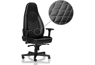 NOBLECHAIRS ICON Faux Leather Gamingstol (svart/vit)