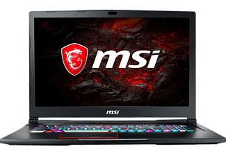 MSI GE73VR 7RE-243, Gaming Notebook mit 17.3 Zoll Display, Core™ i7 Prozessor, 16 GB RAM, 256 GB SSD, 1 TB HDD, GTX 1060, Schwarz