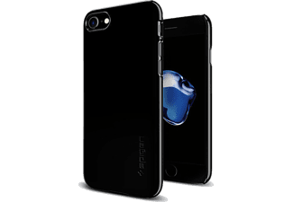 SPIGEN iPhone 7 Case Spigen Thin Fit Ultra İnce Jet Black