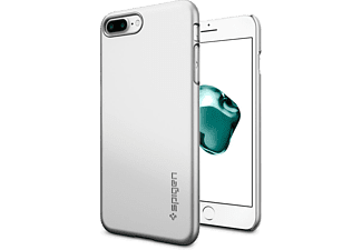SPIGEN iPhone 7 Plus Case Spigen Thin Fit Ultra İnce Satin Silver