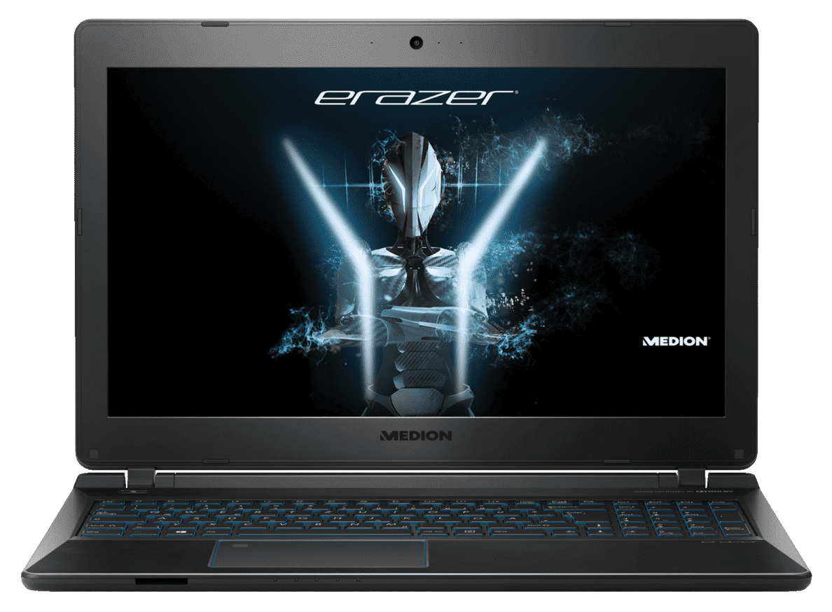 MEDION Erazer P6689 Gaming Notebook mit Core™ i5, 8 GB RAM, 256 & GeForce® GTX 1050 in Schwarz