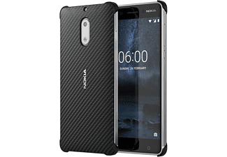 Carbon Fibre Design Case CC-802 for Nokia 6 Onyx Black Backcover Nokia 6  Schwarz