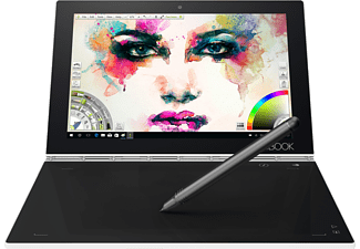 LENOVO Yoga Book mit Windows, Convertible mit 10.1 Zoll, 128 GB Speicher, Atom® Prozessor, Windows 10 Pro, Pearl White