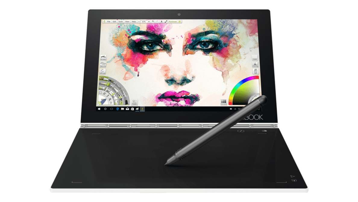 LENOVO  Yoga Book mit Windows Convertible mit Atom®, HD Grafik 400 & RAM in Pearl White | 00191927000058