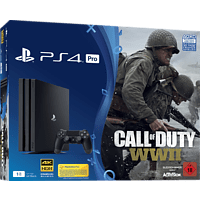 SONY PlayStation 4 Pro 1TB Schwarz + Call of Duty WWII + That's You Voucher
