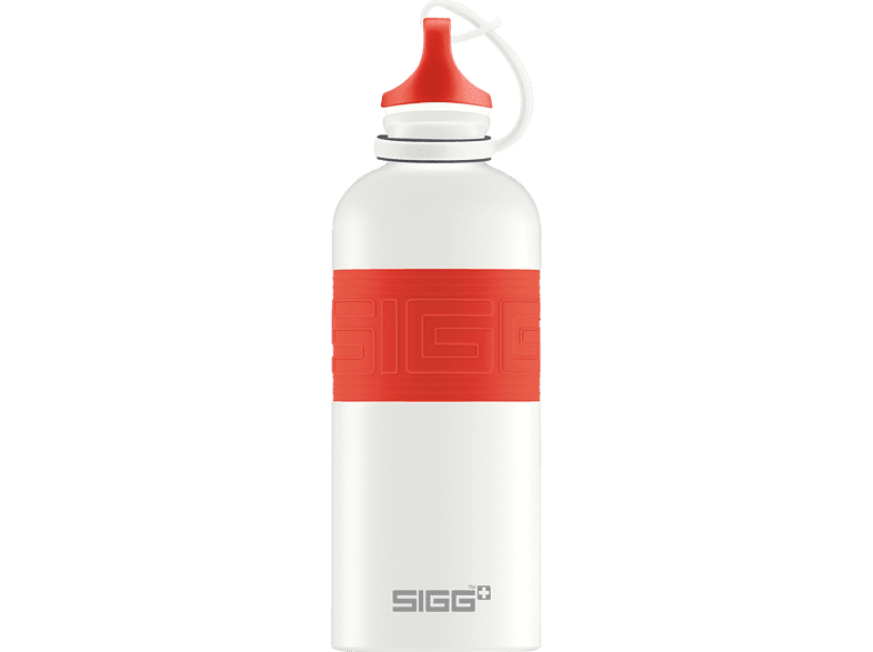SIGG 8687.0 CYD Pure White Touch Red Trinkflasche