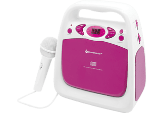 SOUNDMASTER KCD 50 PI, CD-Radio, Pink/Weiß