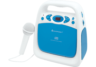 SOUNDMASTER KCD 50 BL, CD-Radio, Blau/Weiß