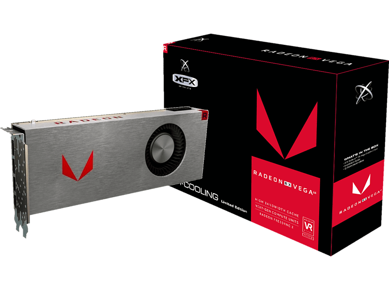 XFX Radeon RX VEGA 64 Silver Single Fan 8GB (RX-VEGMTSFX6) (AMD, Grafikkarte)
