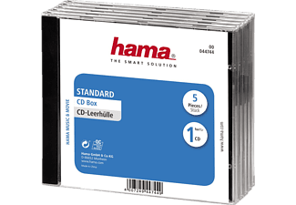 HAMA 44744 CD BOX STD CLEAR/BLACK - CD-Leerhülle (Schwarz/Transparent)