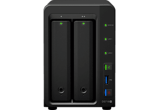 SYNOLOGY DiskStation DS718+, Schwarz, 3.5 Zoll