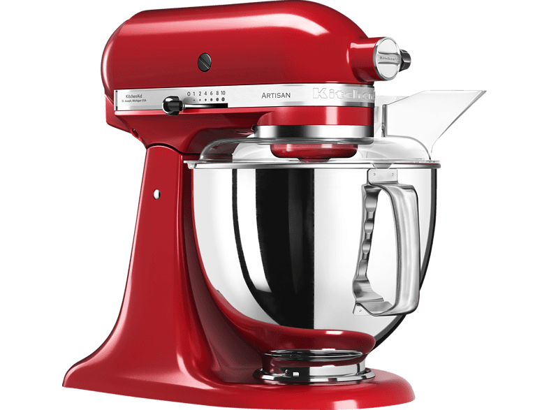 KITCHENAID 5KSM175PSEER Artisan Küchenmaschine Empire Rot 300 Watt