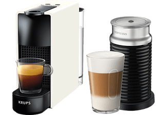 KRUPS Nespresso Kaffeemaschine Essenza Mini + Milk Pure White XN 1111