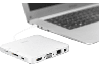 DIGITUS Universal, USB Typ-C, USB 3.1, HDMI, MiniDP, VGA, RJ45, Dockingstation