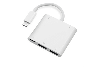 VIVANCO 34294 USB Type C - VGA Adaptör 3 in 1 (VGA + USB C + USB 3.0)