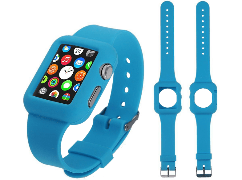 4YOUR WATCH Cover Silicon Case Band Apple Watch Blauw (4YW-CB38BL)