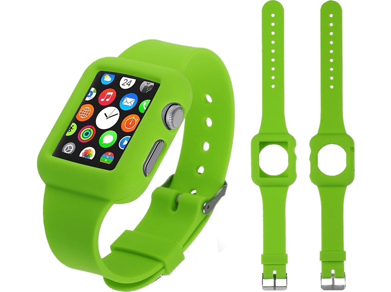 4YOUR WATCH Cover Silicon Case Band Apple Watch Bruin Groen (4YW-CB38GR)