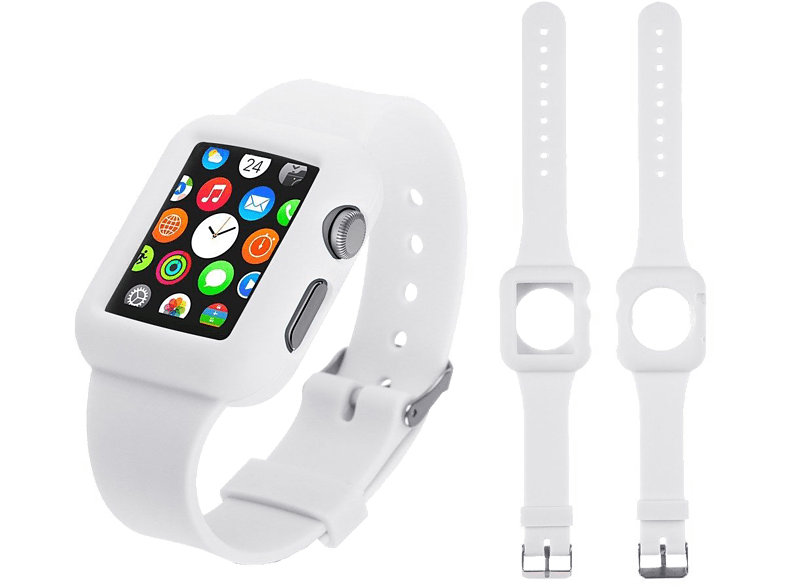 4YOUR WATCH Cover Silicon Case Band Apple Watch Wit (4YW-CB38WH)