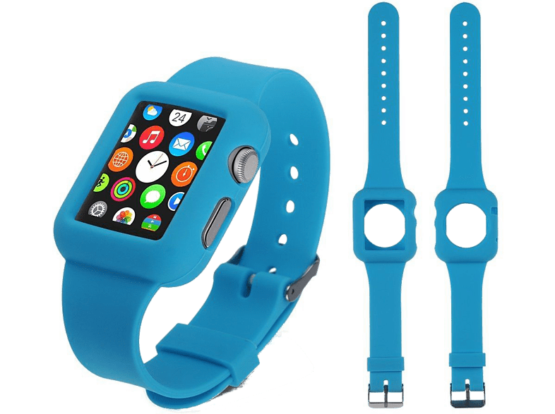 4YOUR WATCH Cover Silicon Case Band Apple Watch Blauw (4YW-CB42BL)