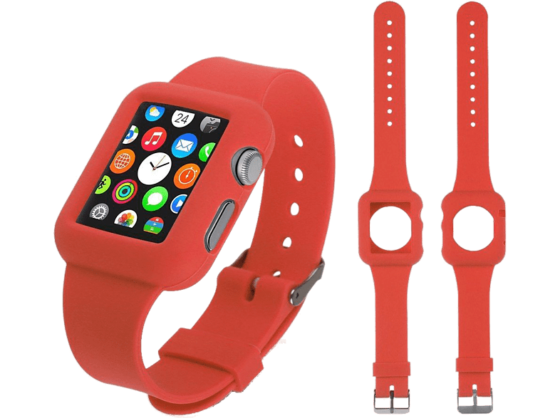 4YOUR WATCH Cover Silicon Case Band Apple Watch Rood (4YW-CB42R)