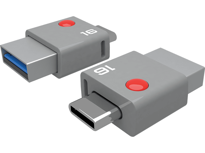 EMTEC USB-stick Duo USB-C 3.0 16 GB (ECMMD16GT403)