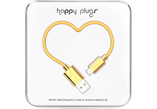 HAPPY PLUGS Micro USB To USB Şarj/Senkronizasyon Kablosu 2 m Gold