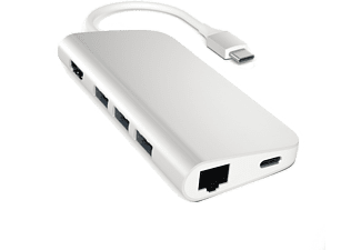SATECHI USB Type-C Multi-Port Adapter 4K Gbit Ethernet - Silver