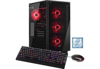 HYRICAN CRYSTAL 5686, Gaming PC mit Core™ i7 Prozessor, 32 GB RAM, 500 GB SSD, 3 TB HDD, GeForce® GTX 1080, 8 GB GDDR5 Grafikspeicher