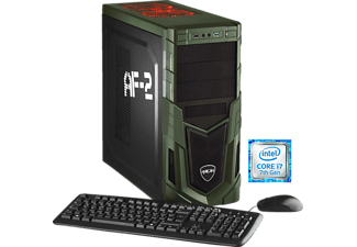 HYRICAN MILITARY GAMING 5717, Gaming PC mit Core™ i7 Prozessor, 16 GB RAM, 240 GB SSD, 1 TB HDD, Geforce® GTX 1070, 8 GB GDDR5 Grafikspeicher