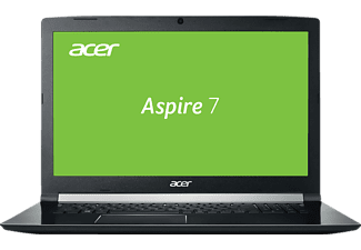 ACER Aspire 7 (A717-71G-79K5), Gaming Notebook mit 17.3 Zoll Display, Core™ i7 Prozessor, 8 GB RAM, 128 GB SSD, 1 TB HDD, GeForce® GTX 1050, Schwarz (Aluminium A- & C-Cover)